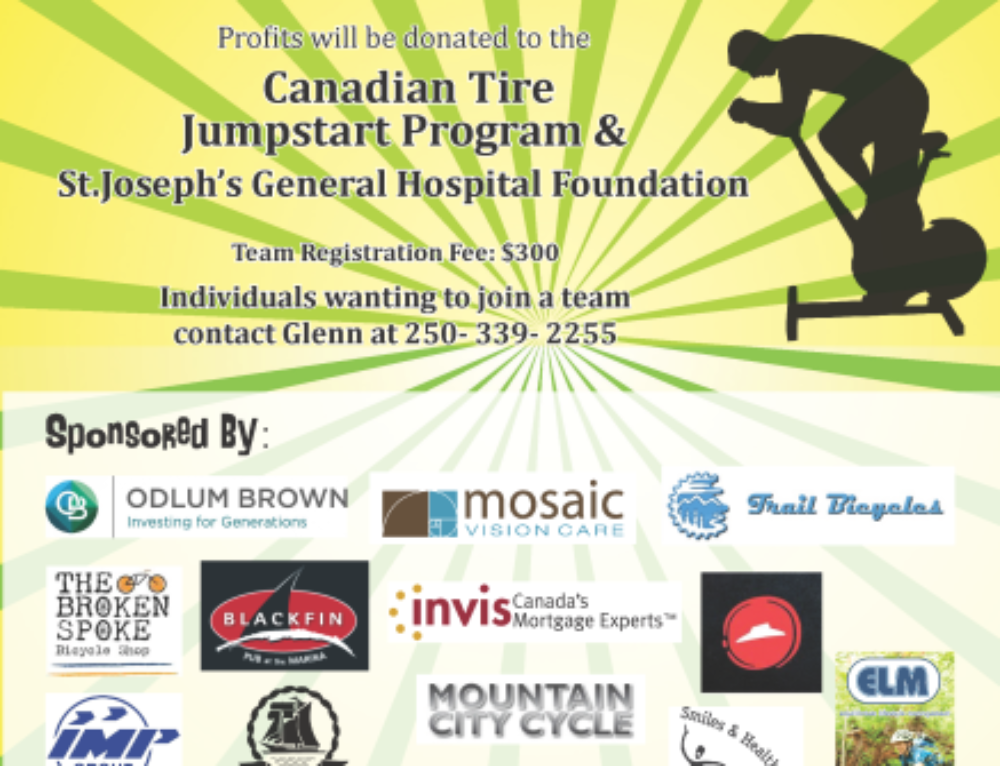 March 5th & 6th, 2016: Spin-a-Thon at Comox Rec Centre