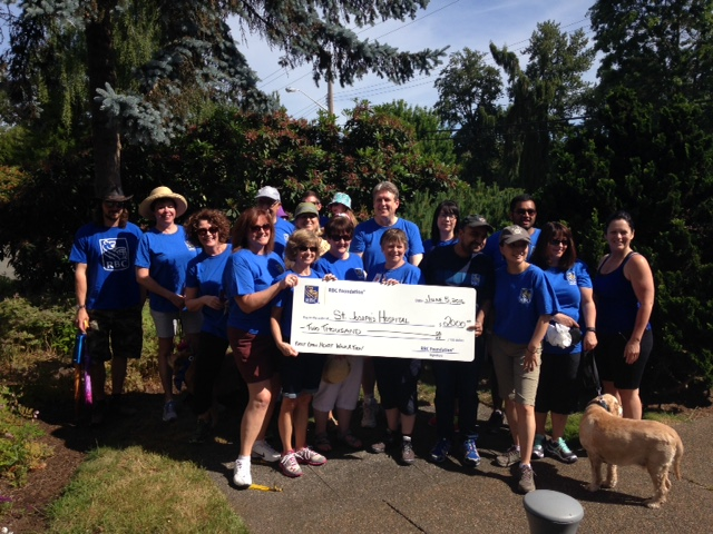 RBC sent a large team to participate in this year's Walk for Hearts, along with a donation of $2,000 for the First Open Heart Society!