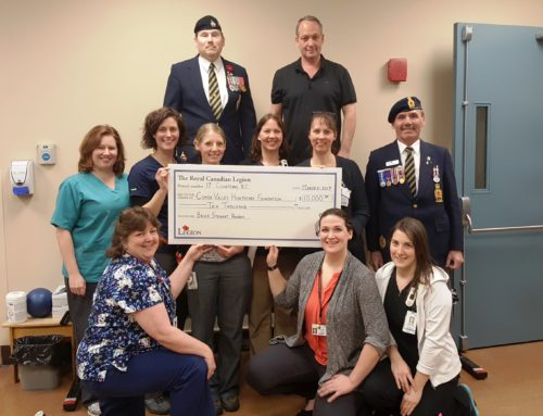 Courtenay Legion donates $10,000 for Rehabilitation Services