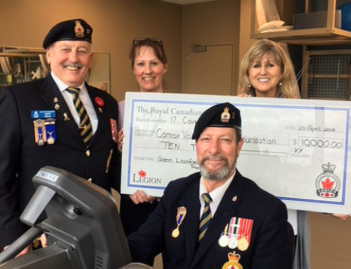 Generous Donation from The Royal Canadian Legion Branch #17