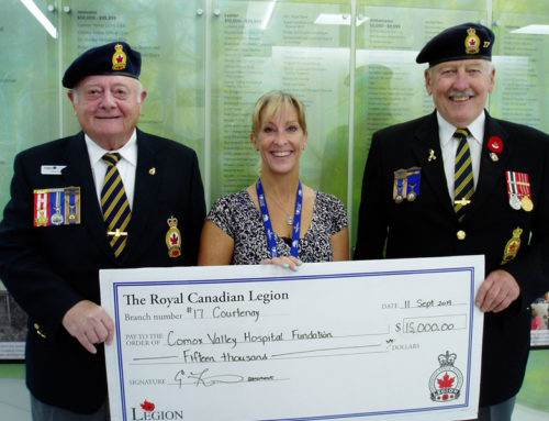 A Very Generous Donation from the Canadian Legion!