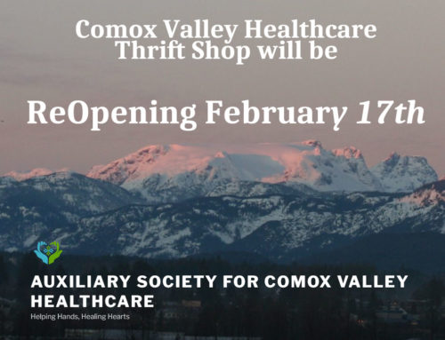 The Auxiliary for Comox Valley Healthcare Thrift Shop Reopening